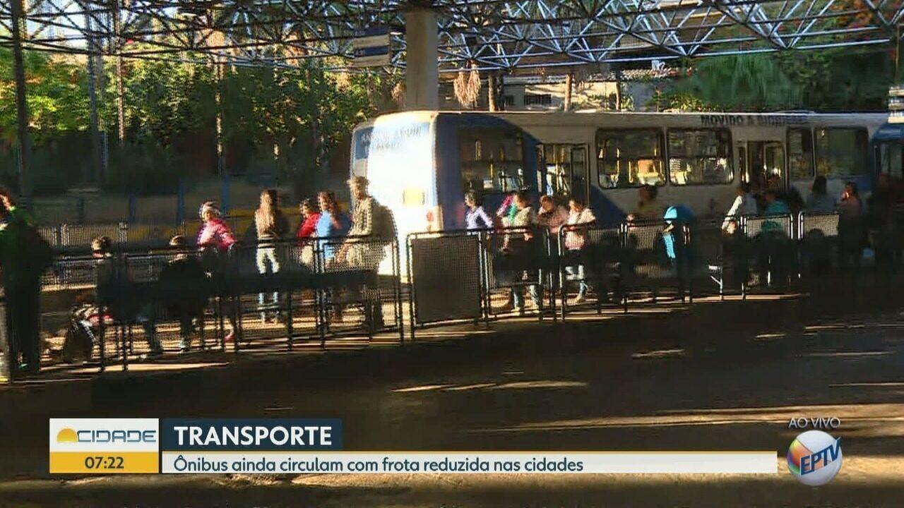 Ônbus de Campinas circulam com frota reduzida nesta quarta-feira