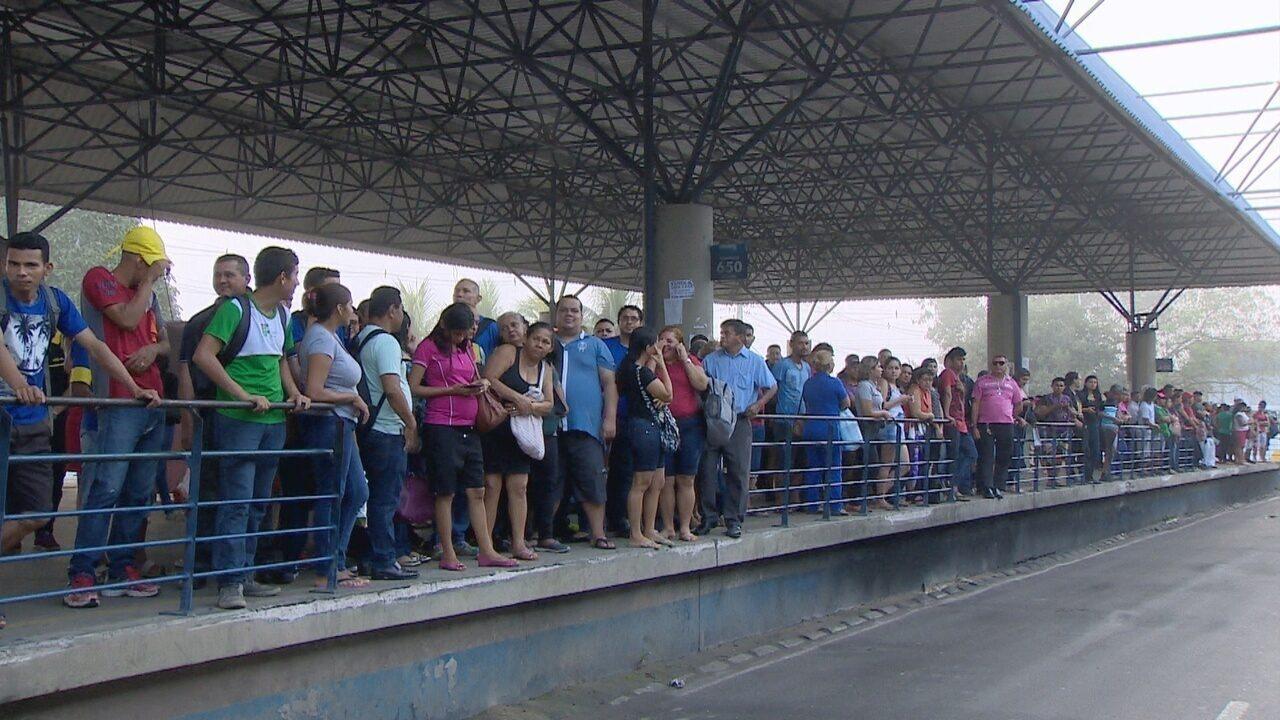 Greve de rodoviários entra no segundo dia em Manaus