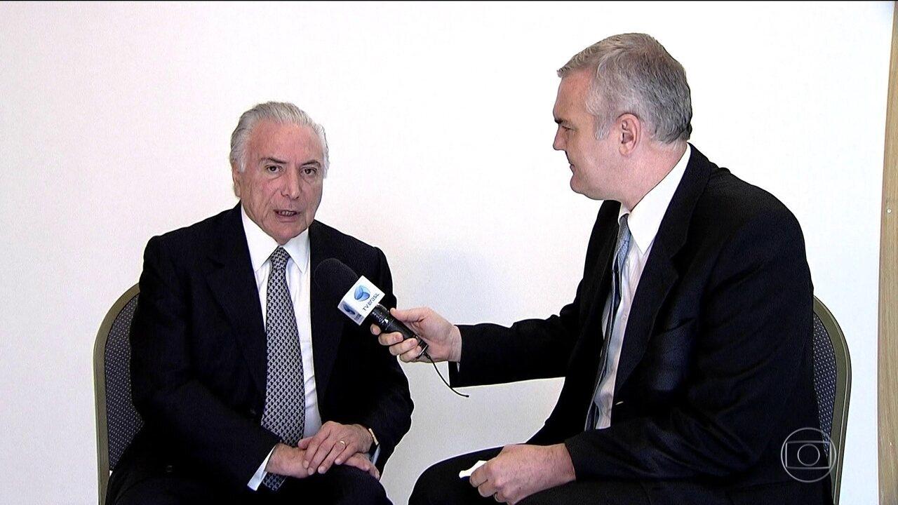 Temer fala sobre política de preço da Petrobras em evento em SP