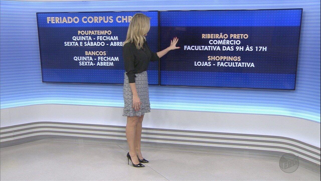 Veja o que abre e o que fecha no feriado de Corpus Christi na região