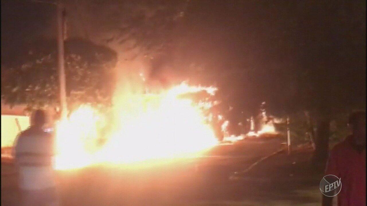 Suspeito de incendiar ônibus em Campinas foi detido
