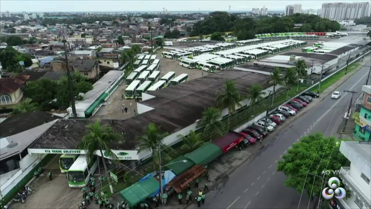 Rodoviários param 100% da frota no 3º dia de greve em Manaus
