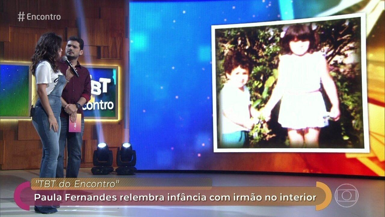 Paula Fernandes e Mel Maia participam do '#tbt do Encontro'