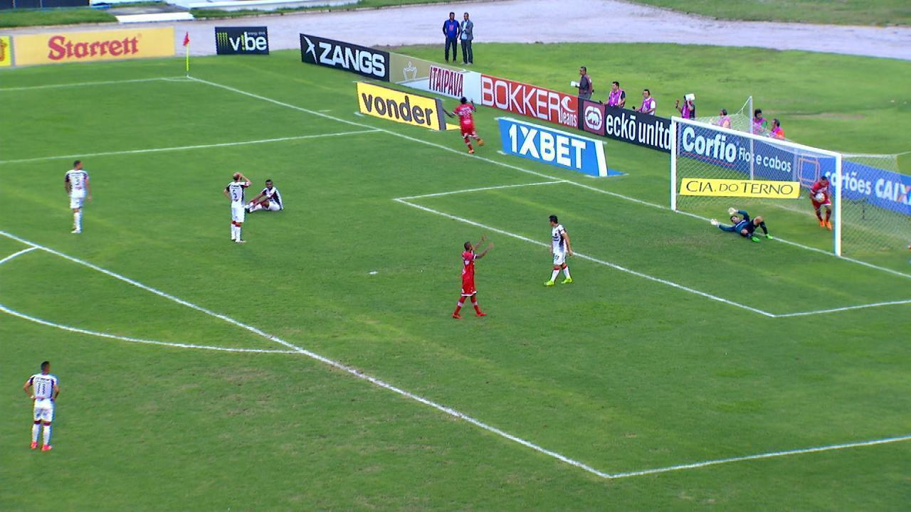 Gol do CRB! Diego Rosa marca aos 38 minutos do 1º tempo