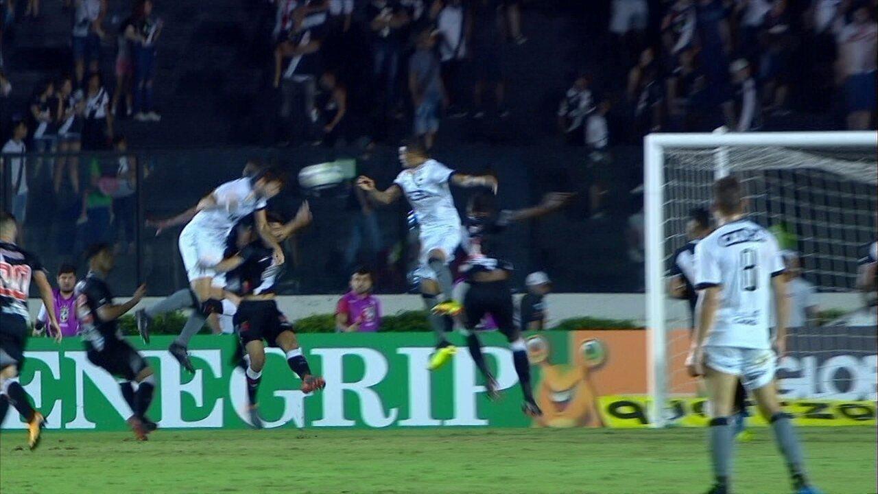Gol do Botafogo! Igor Rabello sobe mais que a defesa e amplia o placar, aos 35' do 1ºT