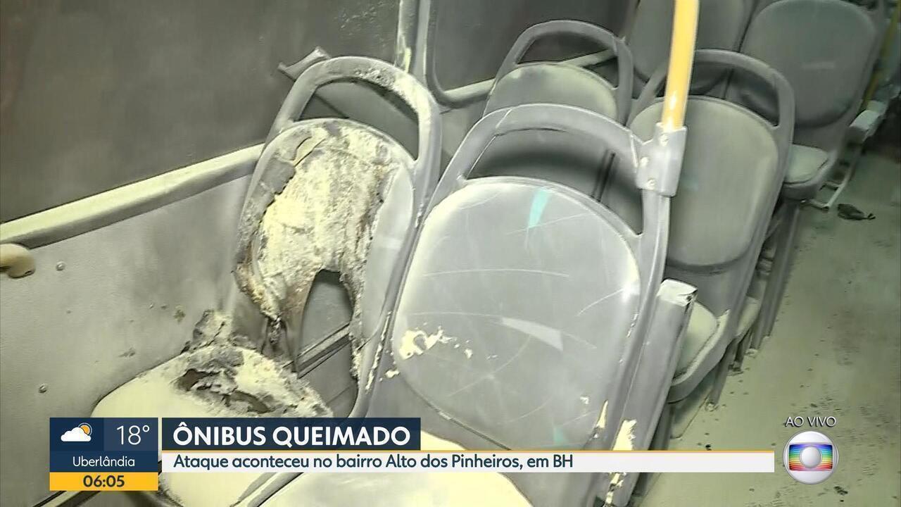 Três ônibus são atacados e queimados parcialmente na Região Metropolitana de BH