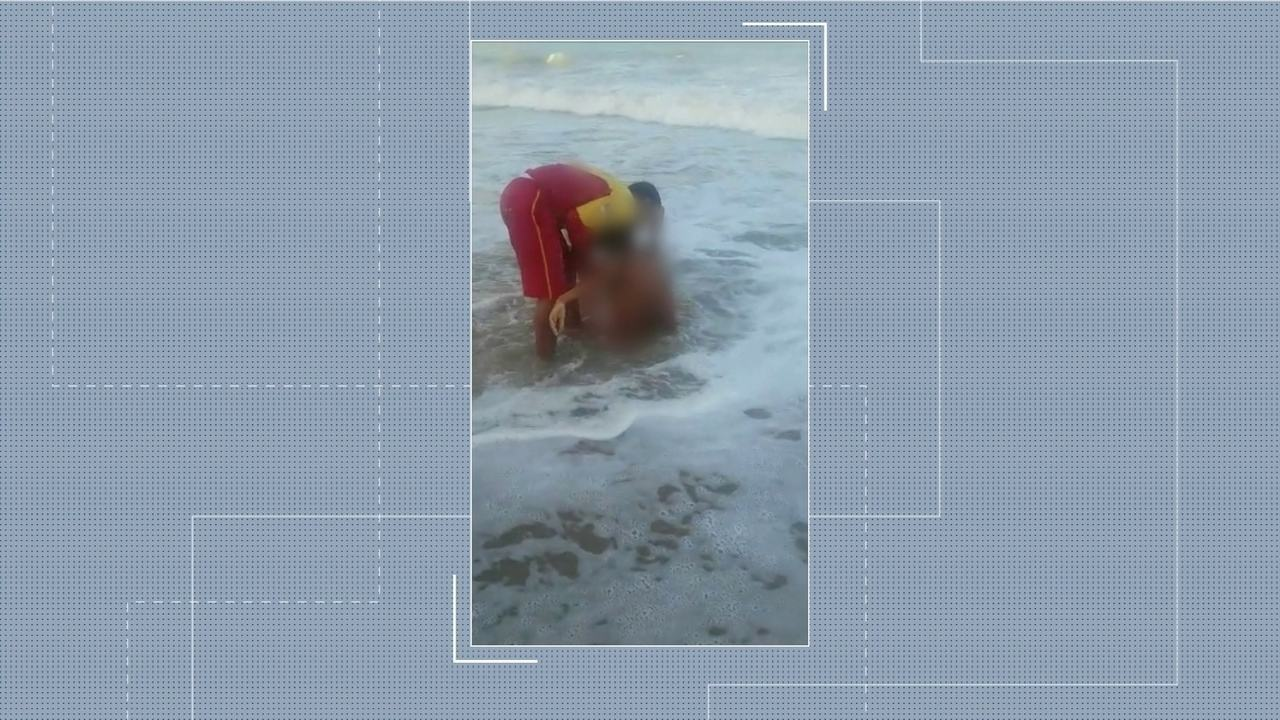 Vídeo mostra resgate de jovem atacado por tubarão na Praia de Piedade, no Grande Recife