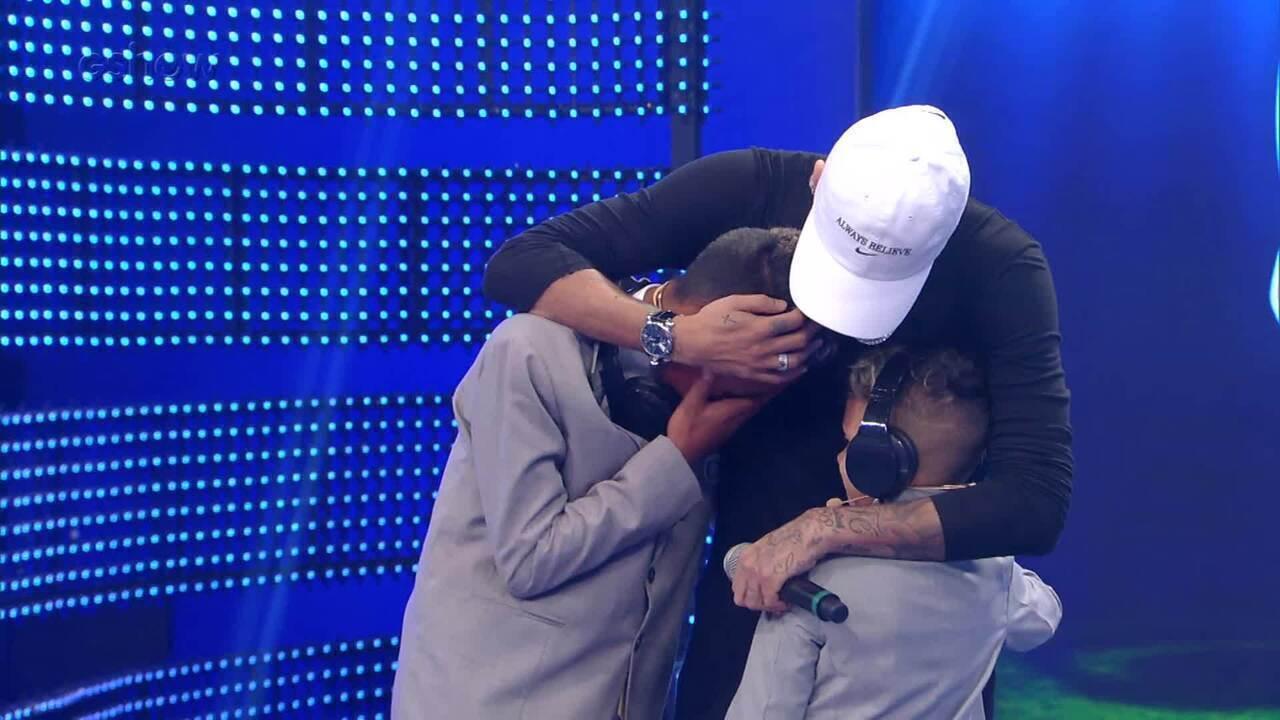 Leanderson e Arthur falam sobre a emoção de conhecer Neymar