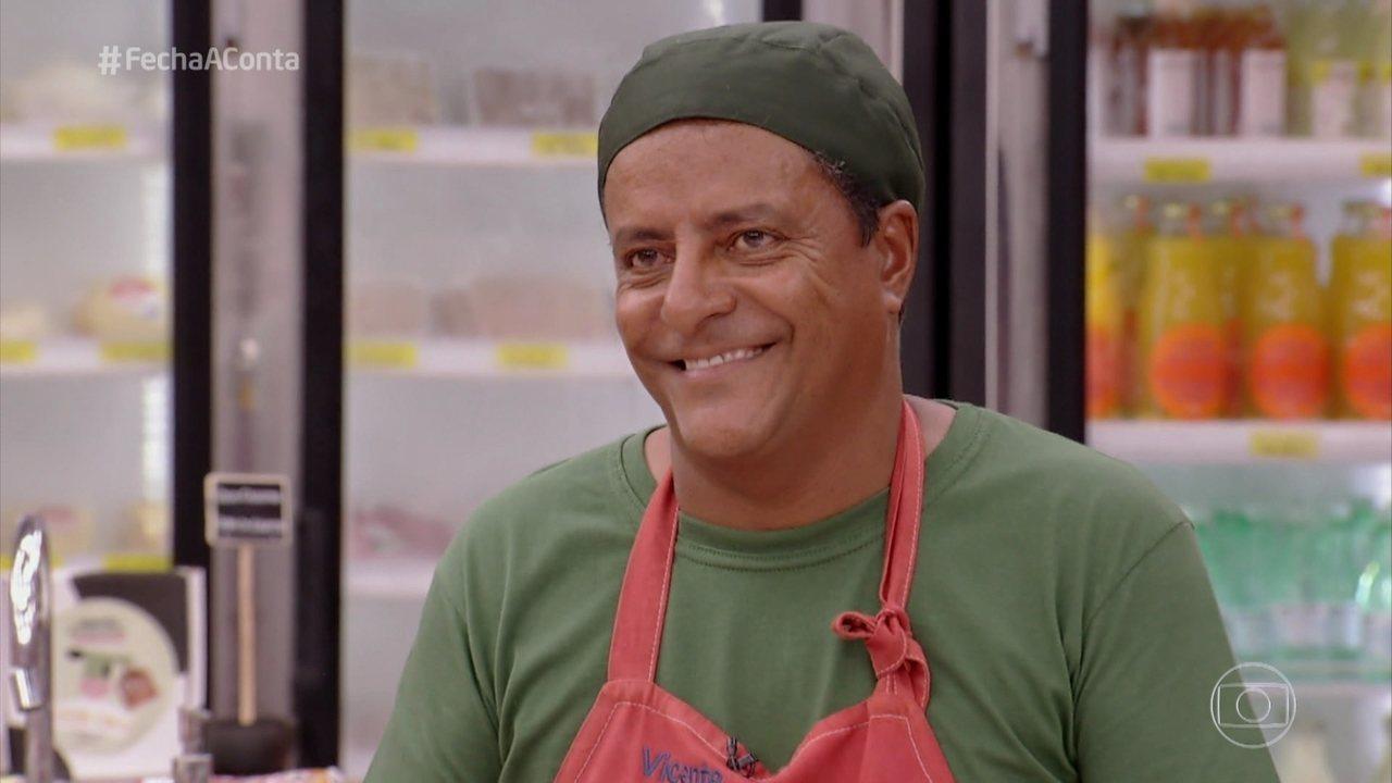 Vicente deixa o 'Fecha a Conta Comida Mineira'