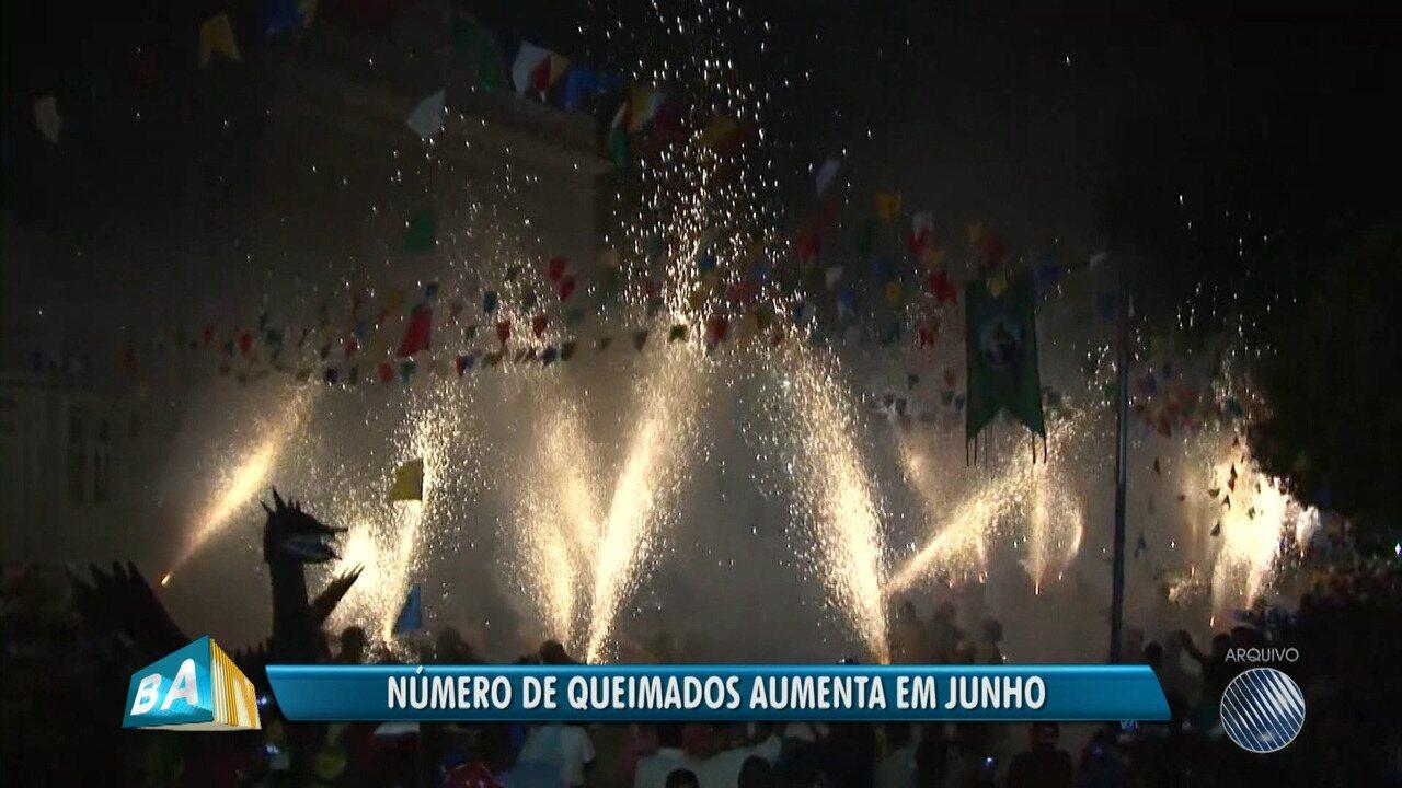 Bahia é o estado com maior número de internações causadas por fogos no período junino