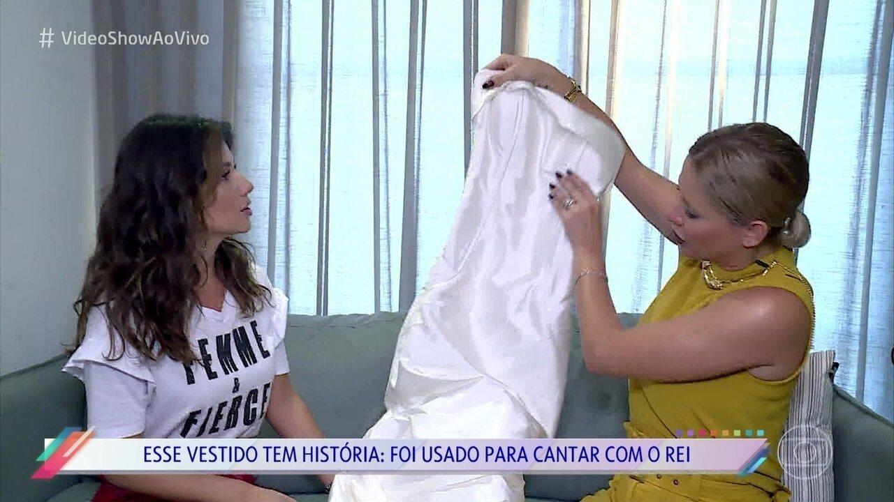 Paula Fernandes abre seu baú fashion para o 'Vídeo Show'