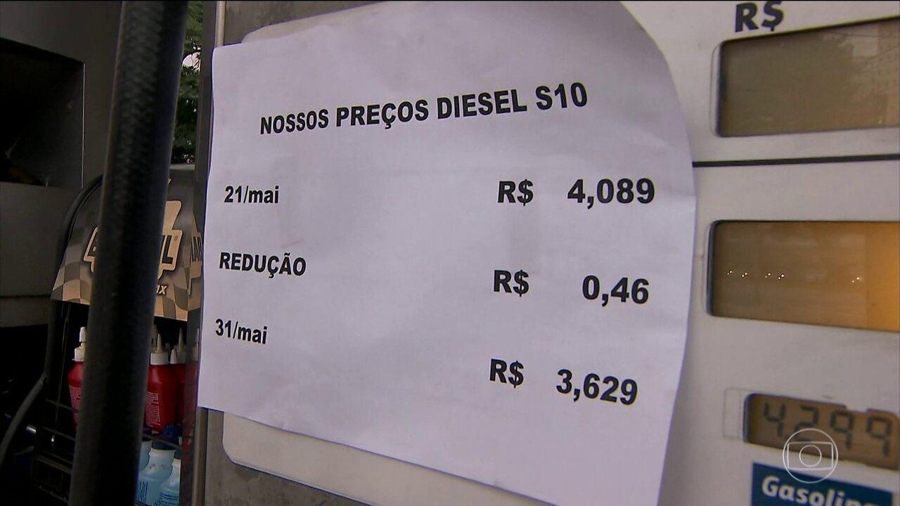 Ministro admite que desconto do diesel deve demorar um pouco mais a aparecer nas bombas
