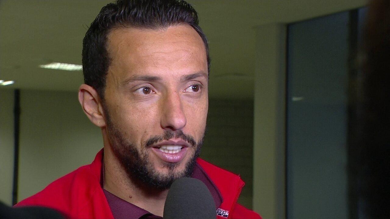 Veja como foi a entrevista de Nenê depois da vitória sobre o Atlético-PR, em Curitiba