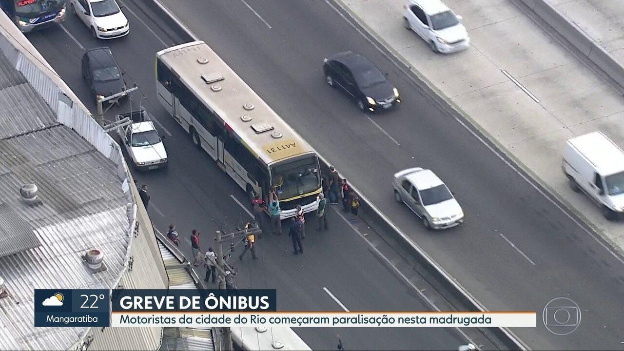 Ônibus circulam com frota reduzida e intervalos maiores no Rio de Janeiro
