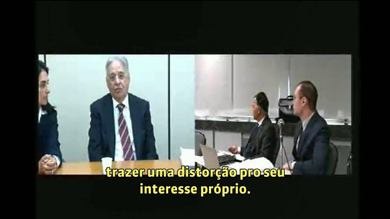 Ex-presidente FHC depõe como testemunha de defesa de Lula