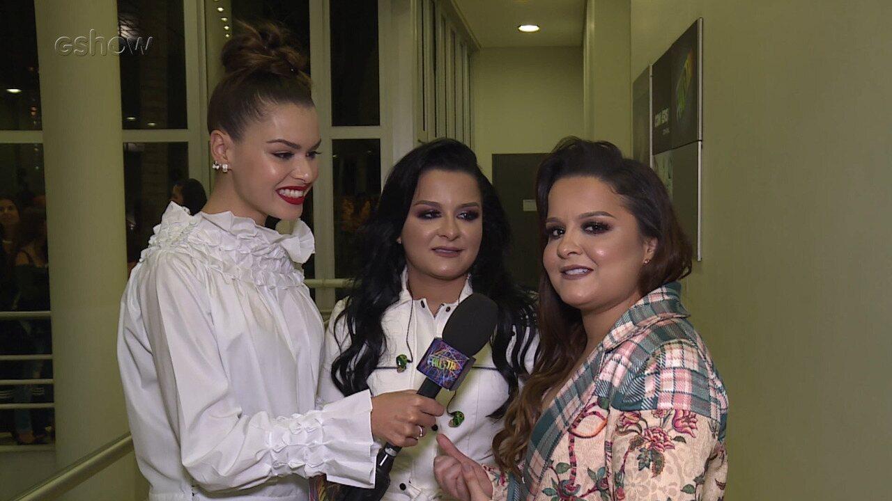 Maiara e Maraisa mostram bastidores de participação no 'Domingão'