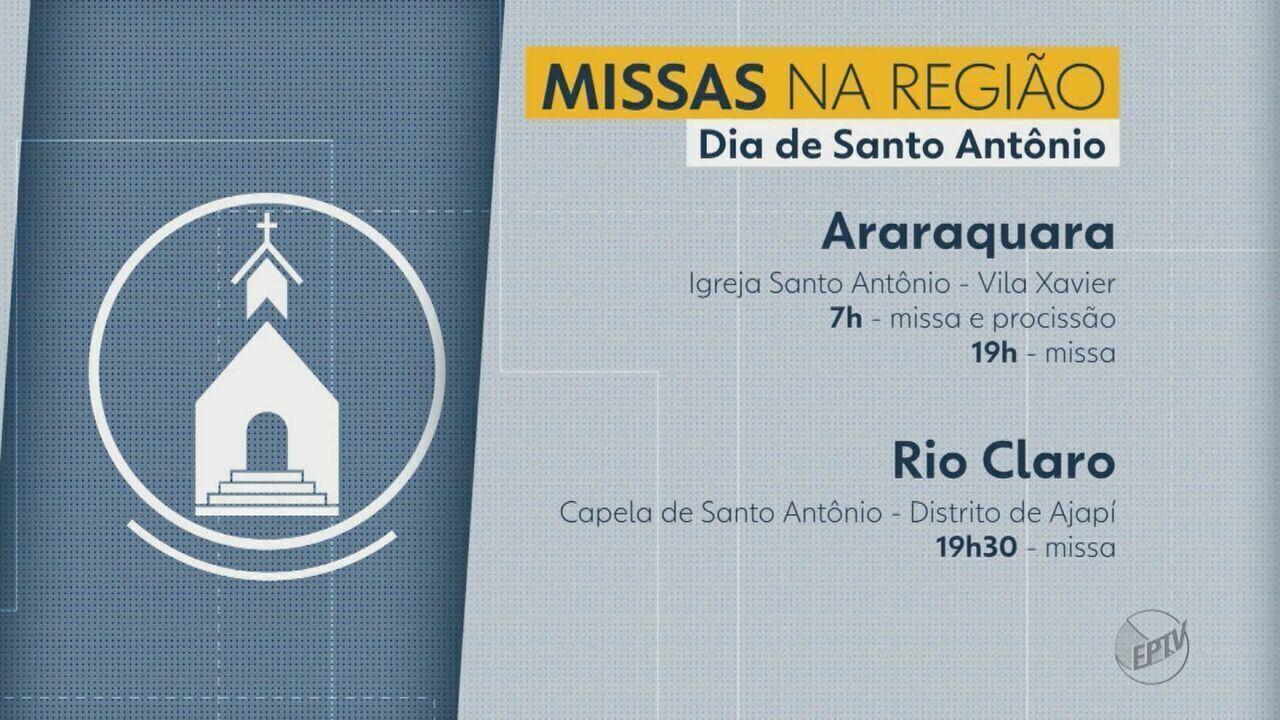 Cidades da região realizam missas no Dia de Santo Antônio