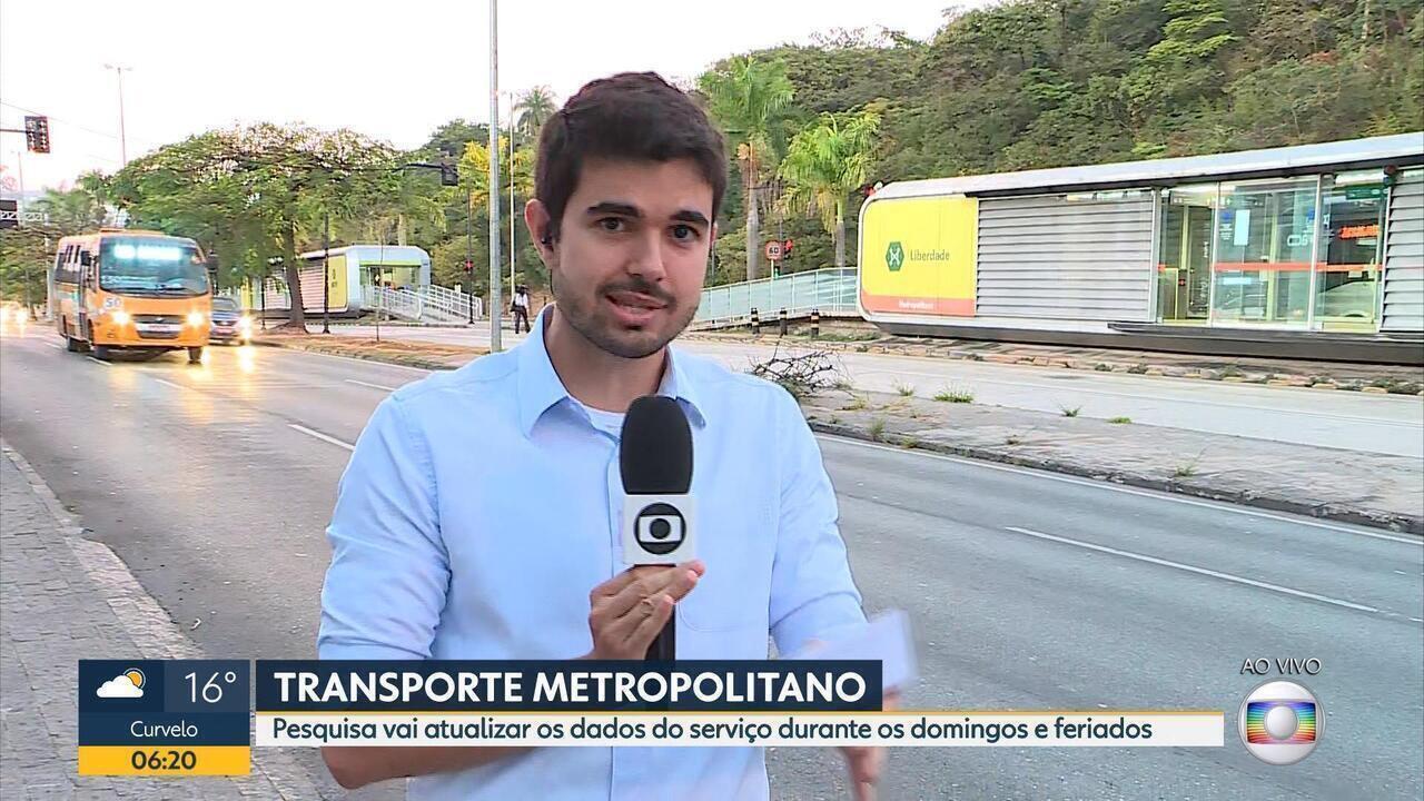 Governo de Minas faz pesquisa sobre dados do transporte metropolitano