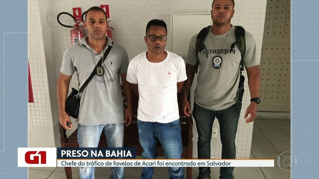 Chefe do tráfico de favelas de Acari é preso em Salvador