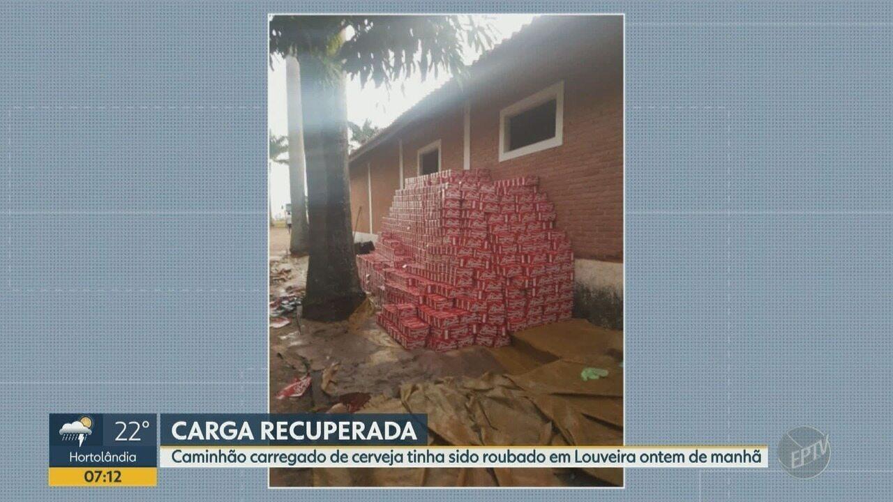 Polícia prende dois em sítio de Jaguariúna com carga de cerveja roubada