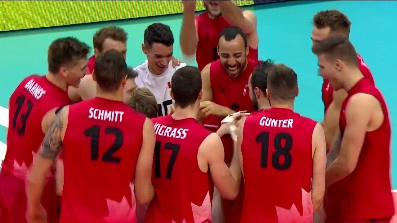 Melhores momentos: Canadá 3 x 0 Brasil pela Liga das Nações de vôlei masculino