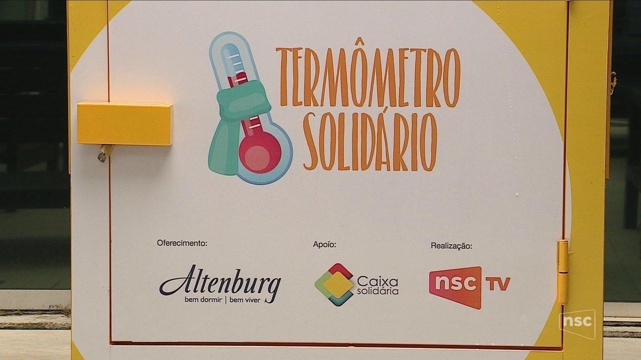 NSC TV lança Termômetro Solidário para arrecadar agasalhos