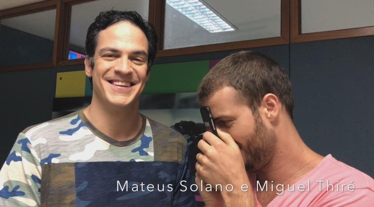 Mateus Solano e Miguel Thiré em visita na TV Liberal