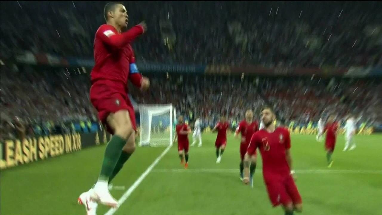 874af88c06 Cristiano Ronaldo faz 3 gols no empate entre Portugal e Espanha