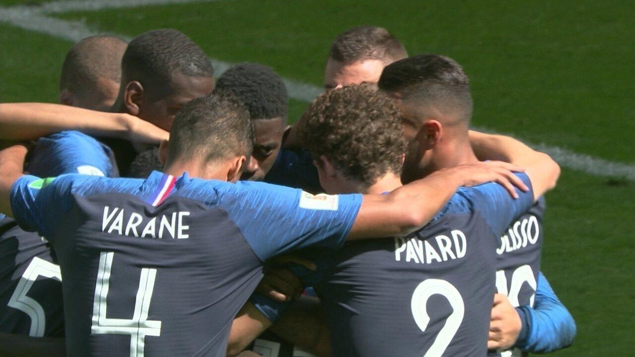 Gol da França! Griezmann cobra pênalti com força e abre o placar com 12' do 2º tempo