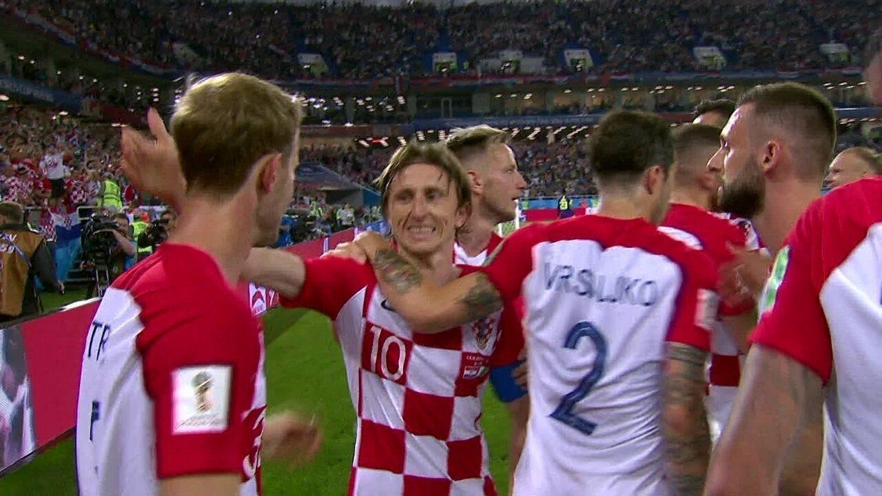 Gol da Croácia! Modric cobra o pênalti com perfeição e amplia para a Croácia aos 25 do 2º