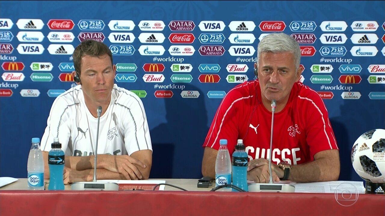 Técnico da Suíça diz que não pretende se contentar com empate