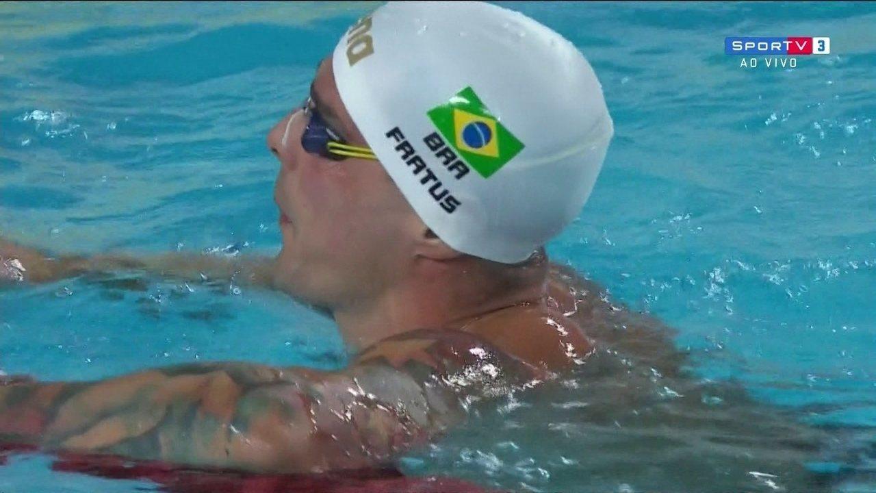Bruno Fratus é ouro nos 50m livre no Mare Nostrum