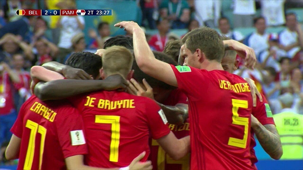 07f37aaec8 Os gols de Bélgica 3 x 0 Panamá pela 1ª rodada da fase de grupos da
