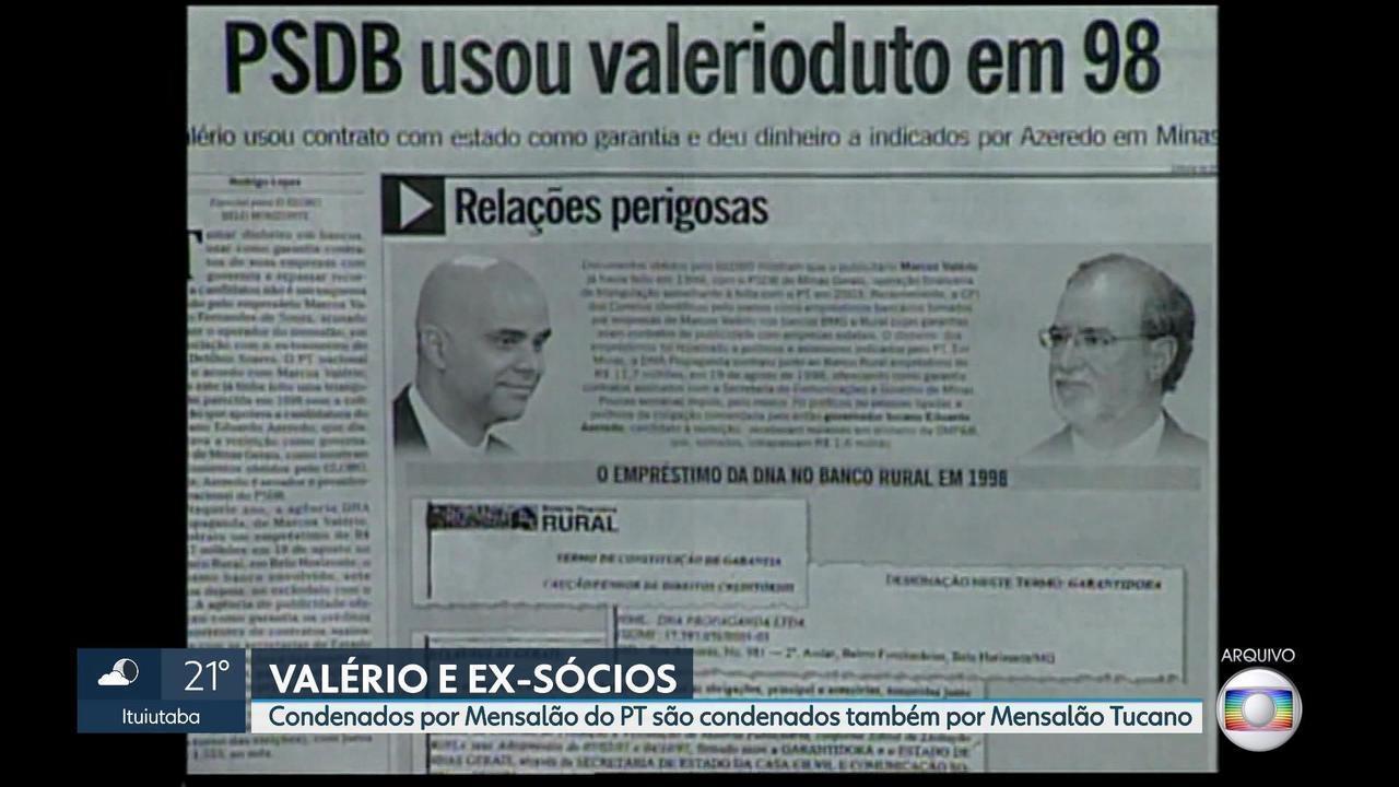 Justiça condena Marcos Valério e dois ex-sócios por participação no mensalão tucano