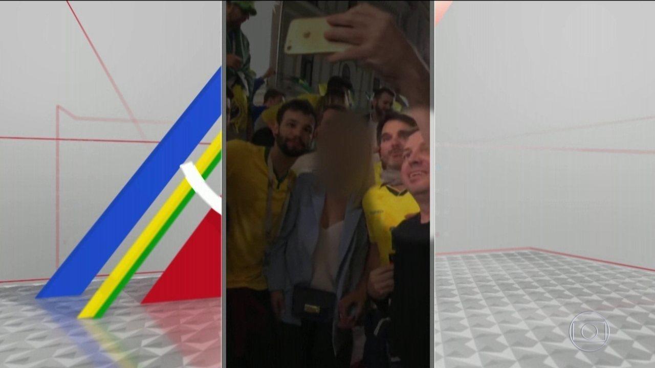 Mais um brasileiro é identificado em vídeo com desrespeito à mulher russa