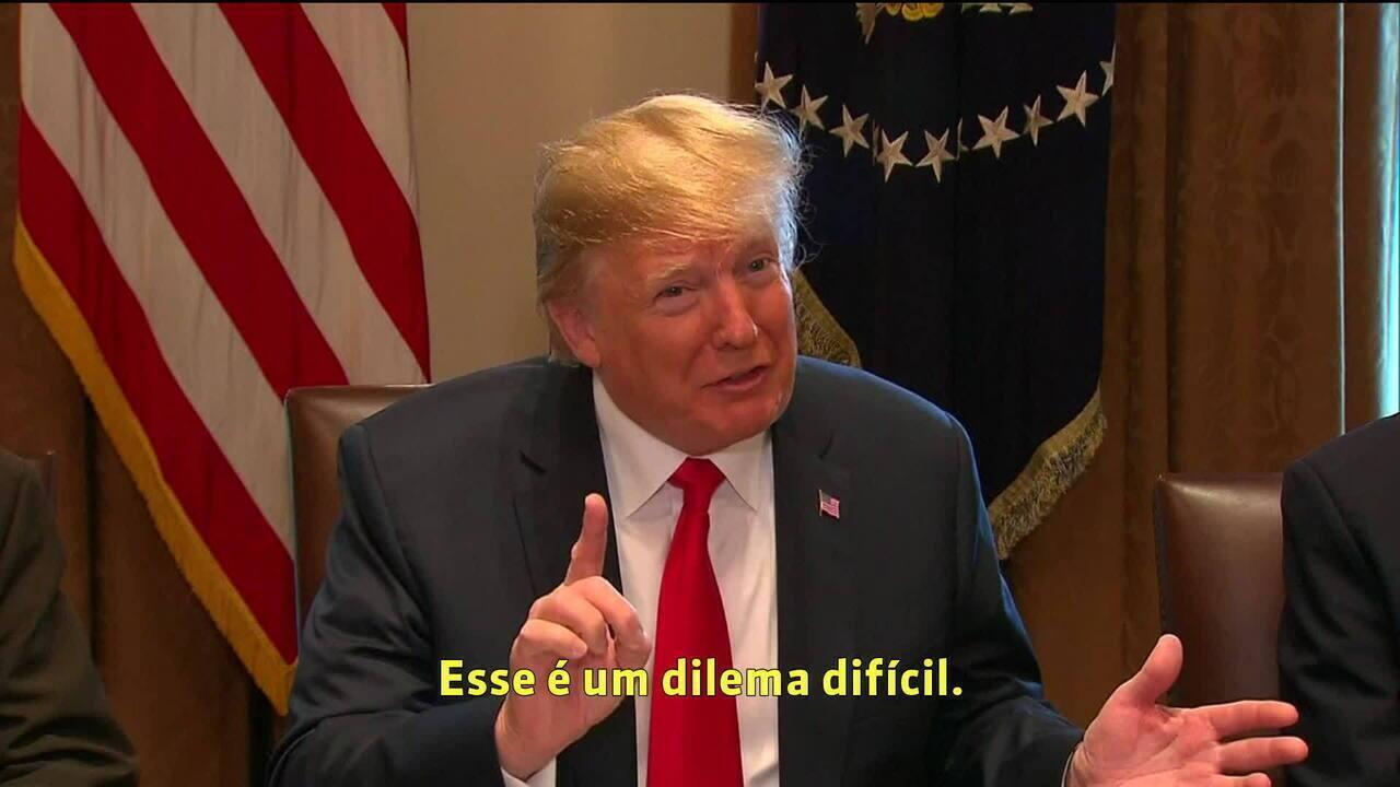 Trump assina ordem que põe fim à separação de famílias de imigrantes ilegais