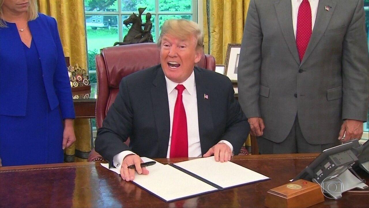 Trump assina decreto que acaba com a separação de pais e filhos de imigrantes ilegais