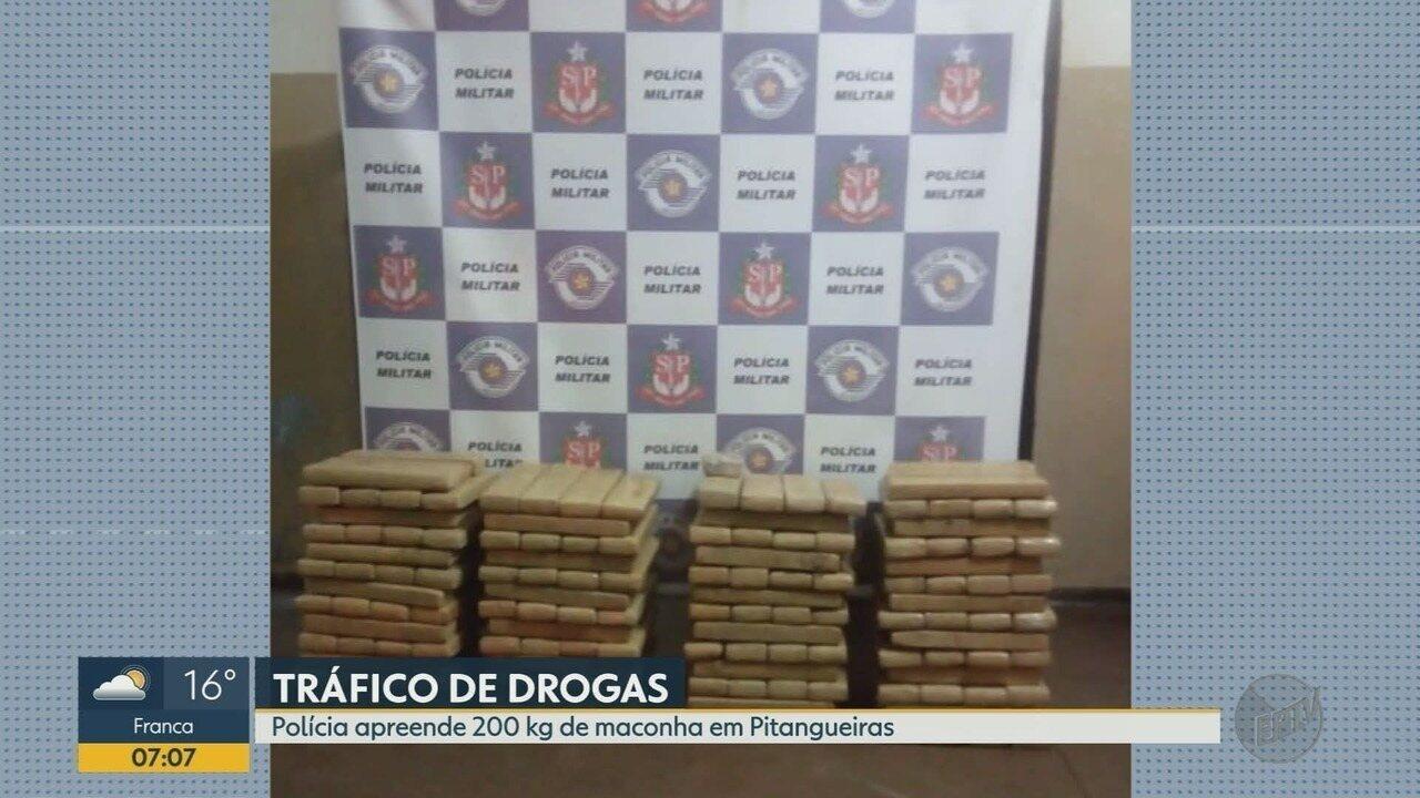 Homem é preso com 200 kg de maconha em Pitangueiras, SP