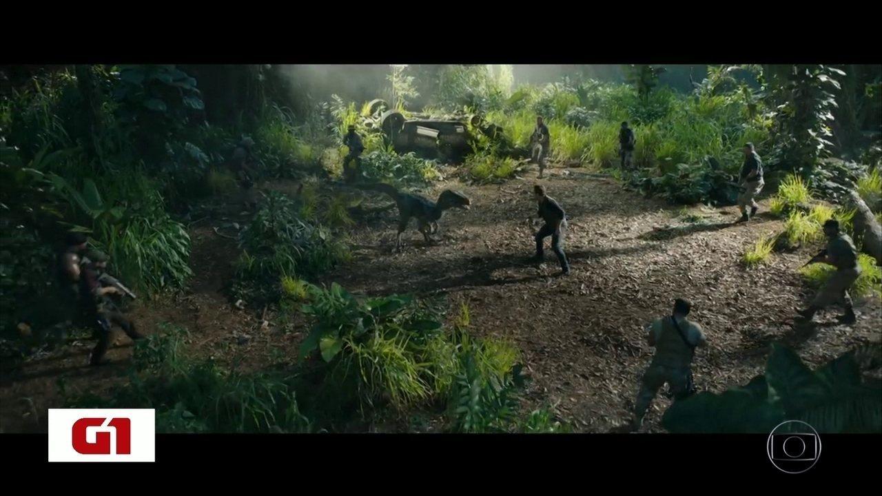 Quinto filme da série Jurassic Park estreia nesta quinta-feira nos cinemas