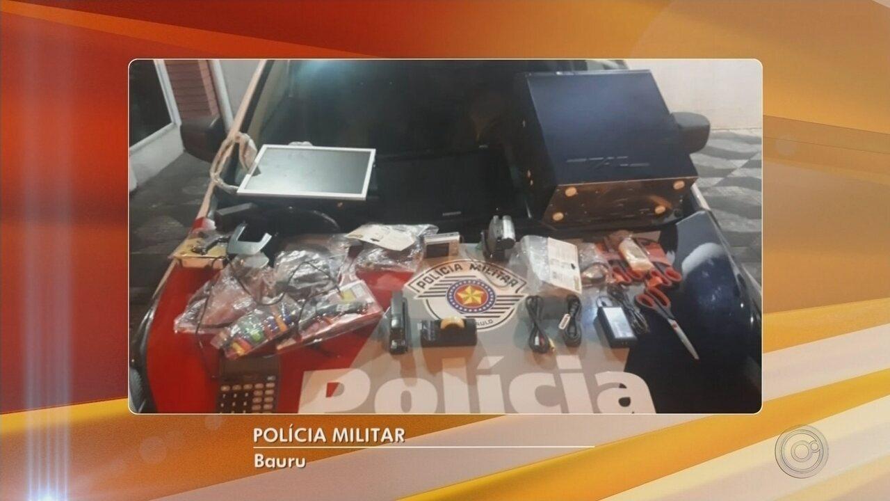 Suspeito de furtar escola em Bauru e comer bolo que seria servido na merenda é preso