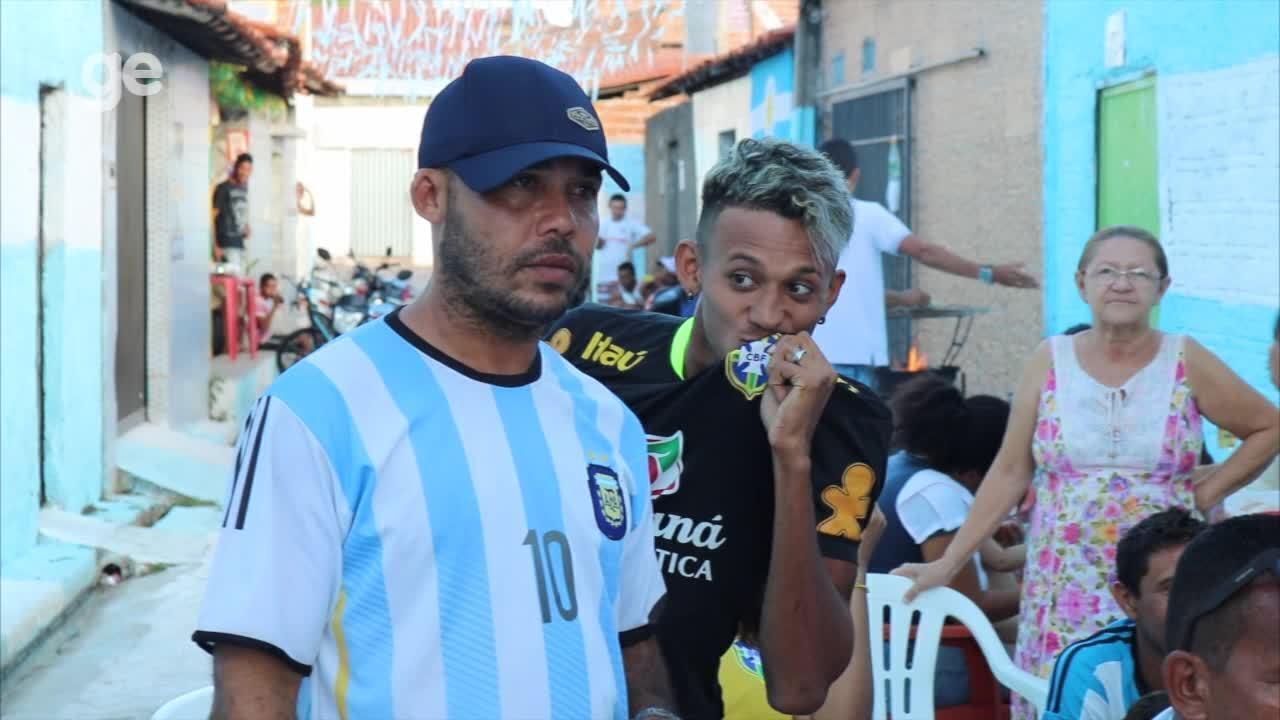 Vídeo: veja as reações da torcida na Rua da Argentina no Piauí no jogo contra Croácia