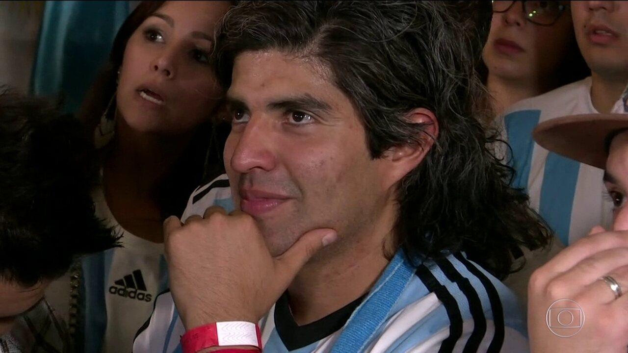 Torcida argentina se reuniu em bar da Mooca e acompanhou a derrota para a Croácia