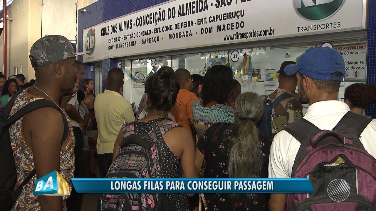 Rodoviária e sistema ferry boat têm movimento intenso por causa dos festejos juninos