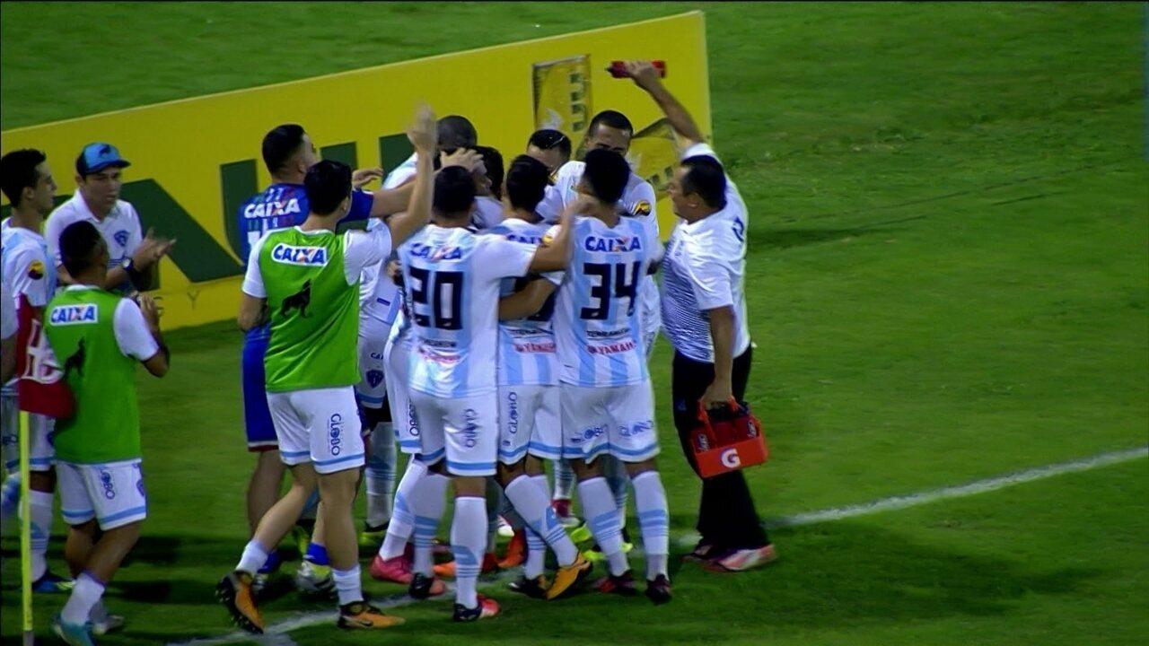 Os gols de CRB 1 x 1 Paysandu, pela 12ª rodada Série B do Campeonato Brasileiro