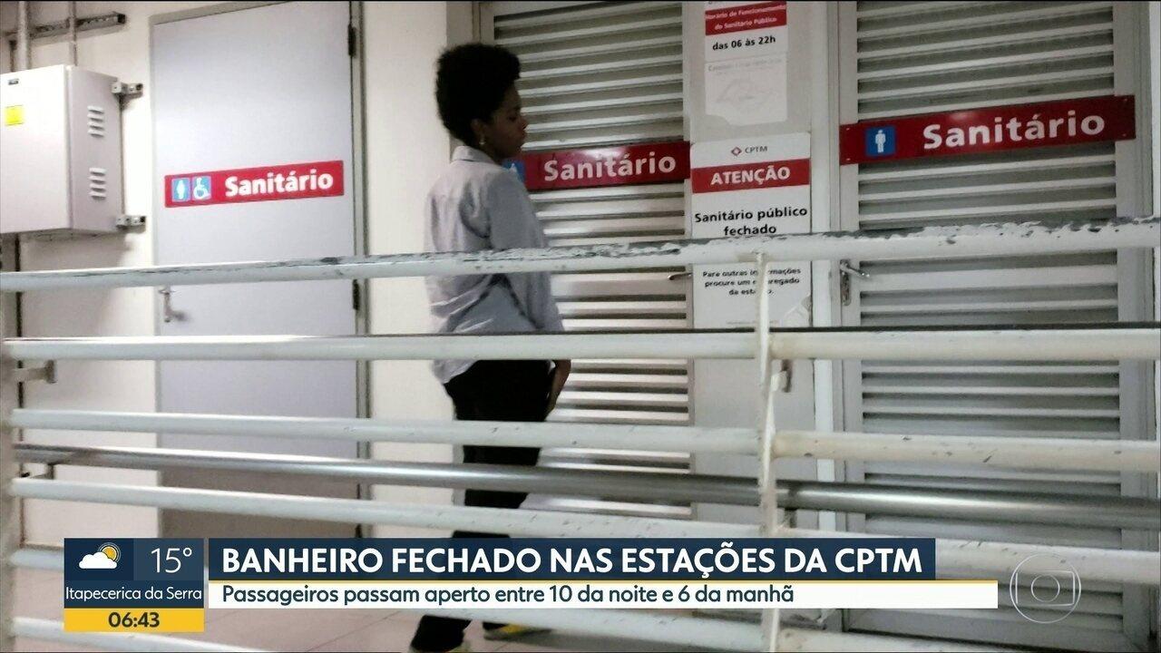 Passageiros reclamam de banheiros fechados em estações da CPTM