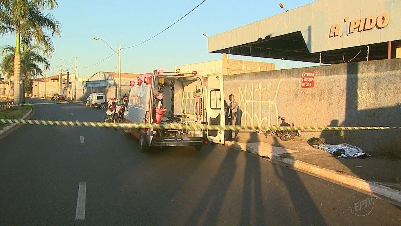 Motociclista morre após bater em poste na Vila Virginia em Ribeirão Preto