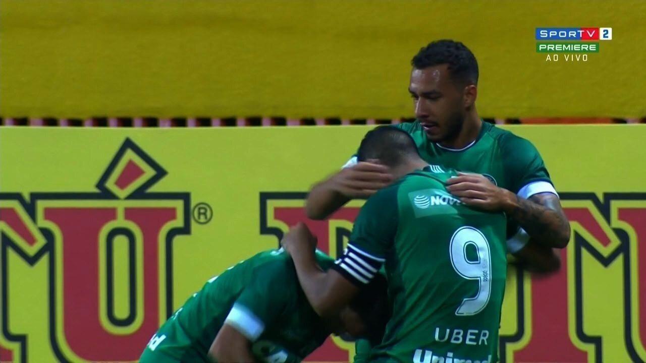 Os gols de Goiás 2 x 1 CRB, pela 13ª rodada da Série B