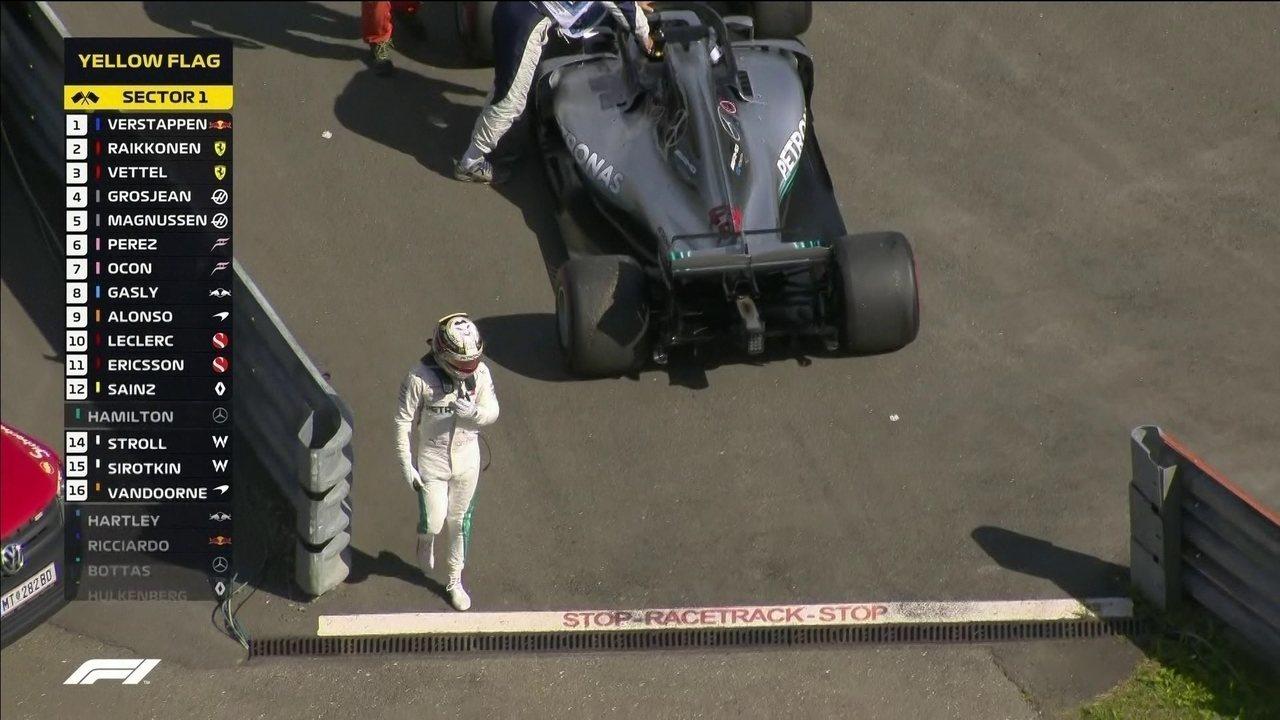 Hamilton tem problemas e abandona o GP da Áustria