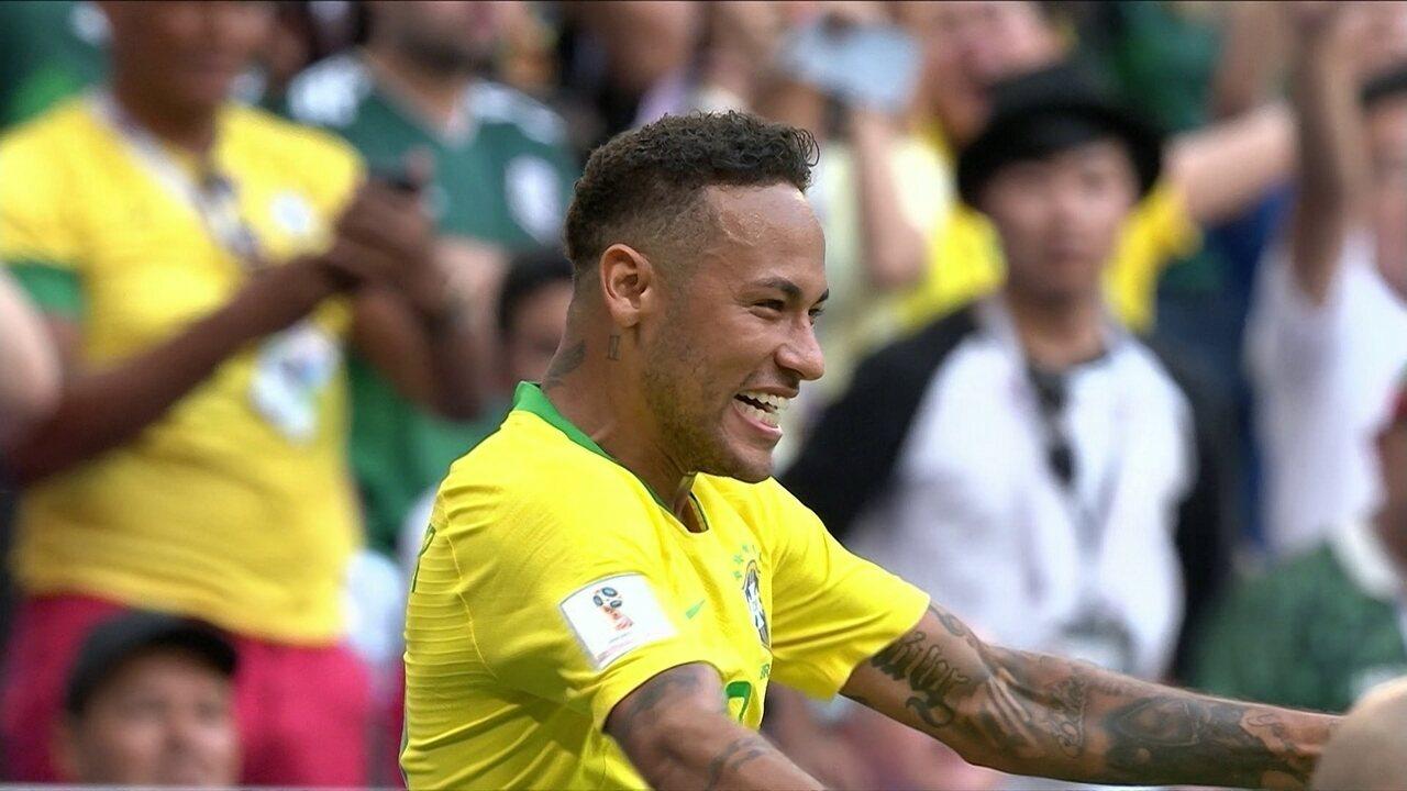 Os gols de Brasil 2 x 0 México pelas oitavas da Copa do Mundo 2018