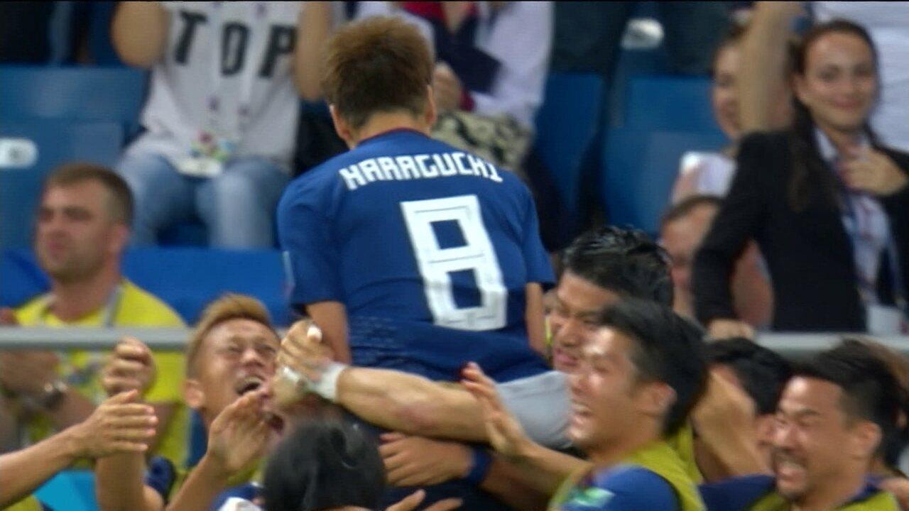 Gol do Japão! Haraguchi recebe na frente, invade a área e marca com 2' do 2º tempo